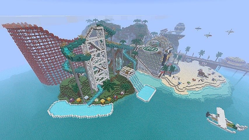 Minecraft Maps Awesome Island City